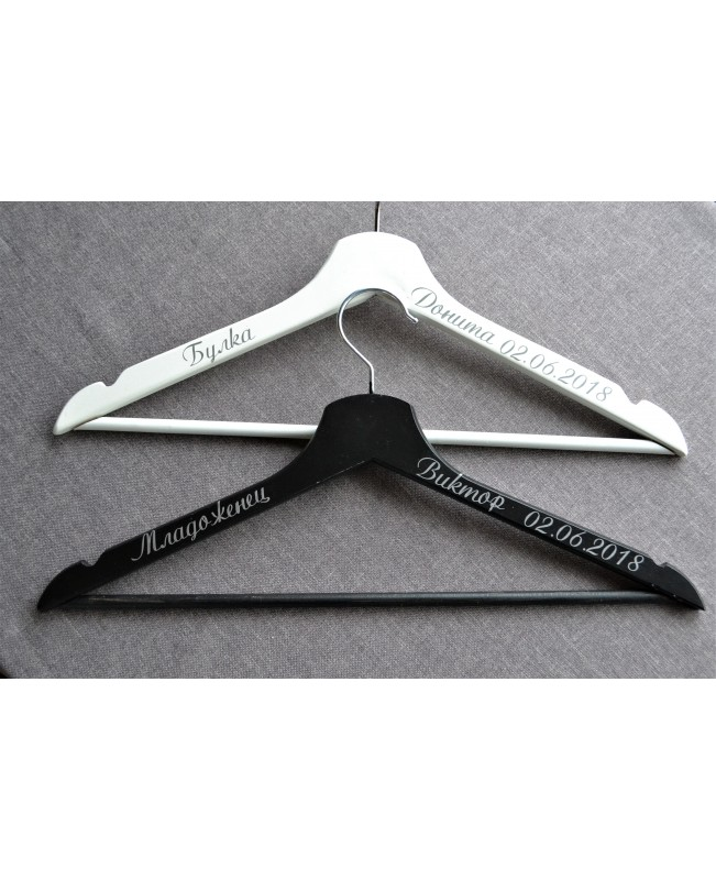 Set of 2 Wedding Hangers H0222