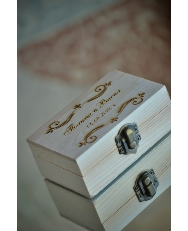 Personalized Wedding Ring Box RB10