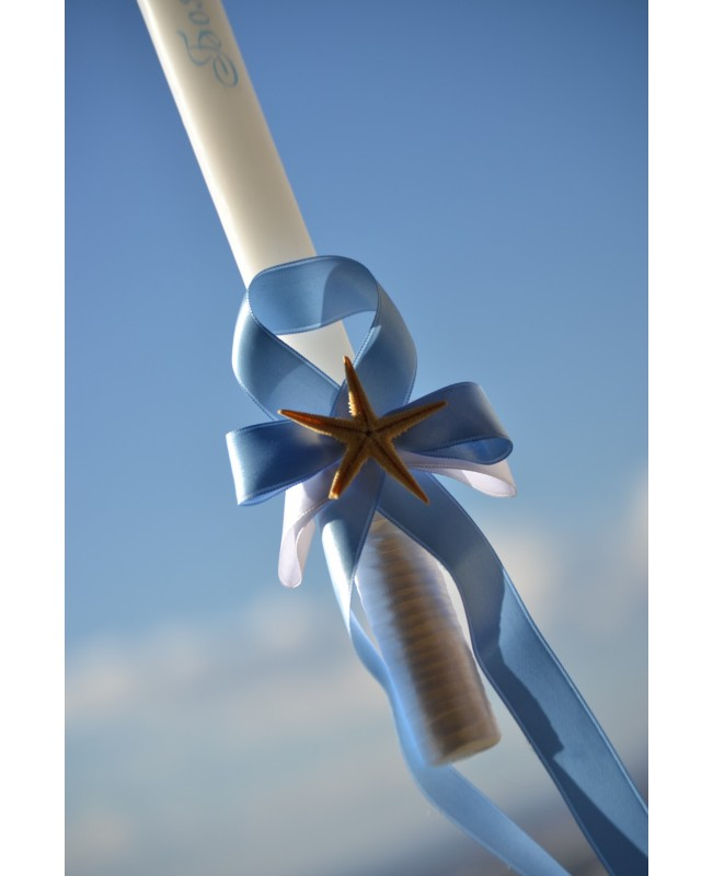 Christening candle  with decoration CH0106
