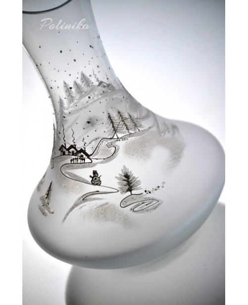 Christmas  wine decanter