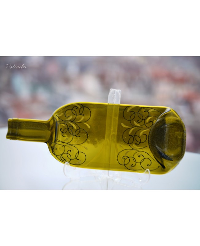 Decorated Slumped Bottle