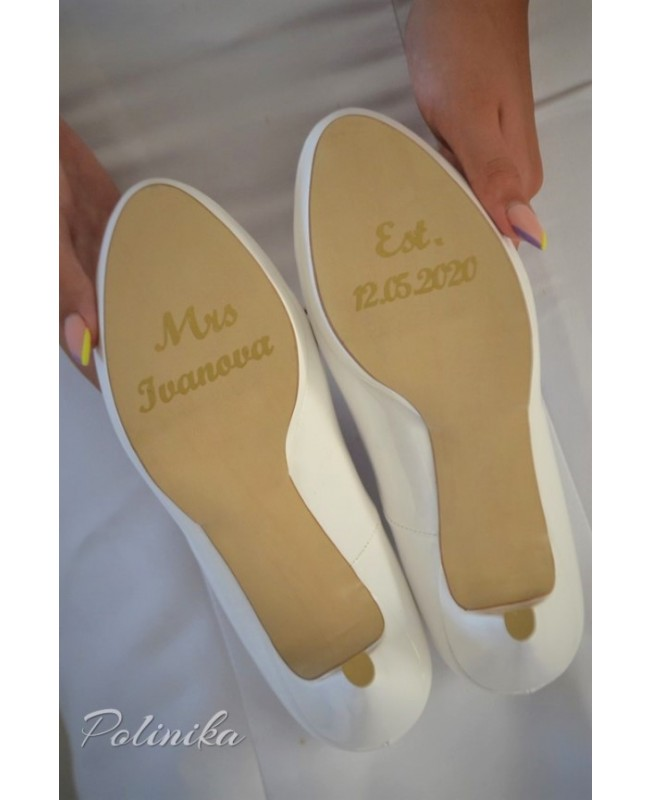 Wedding shoe sticker ST05