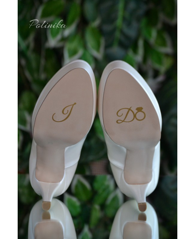 Wedding shoe sticker I do