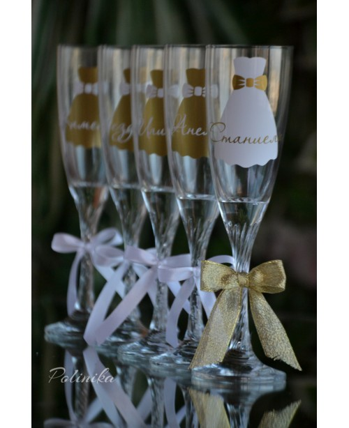 Bridesmaids glasses G 0709