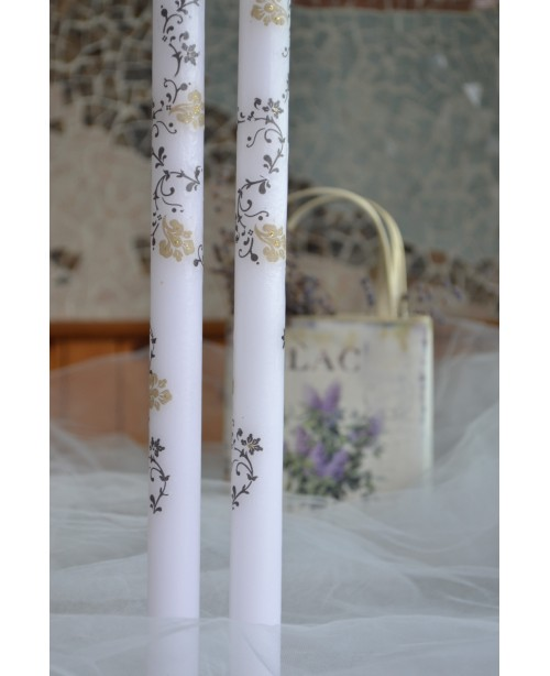 Wedding candles with decoration 0135