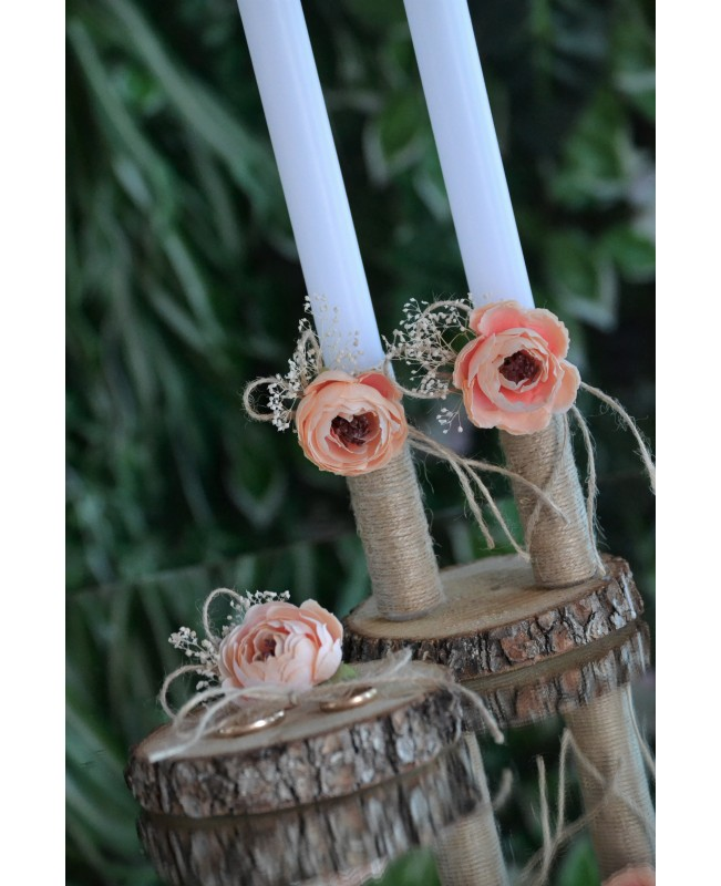 Wedding candles with decoration 0122