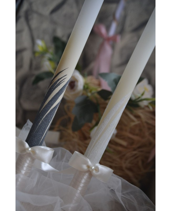 Wedding candles with decoration 0090