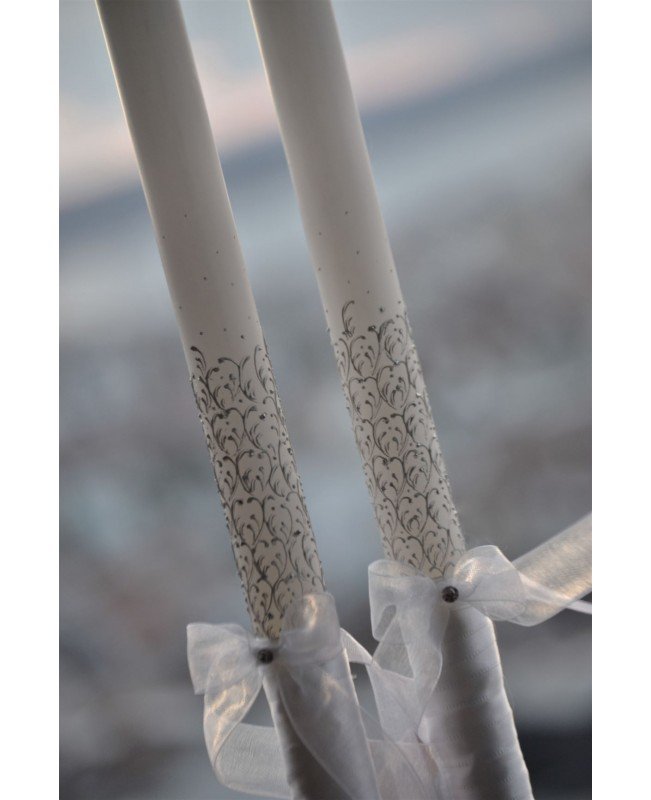 Wedding candles with decoration CN0028