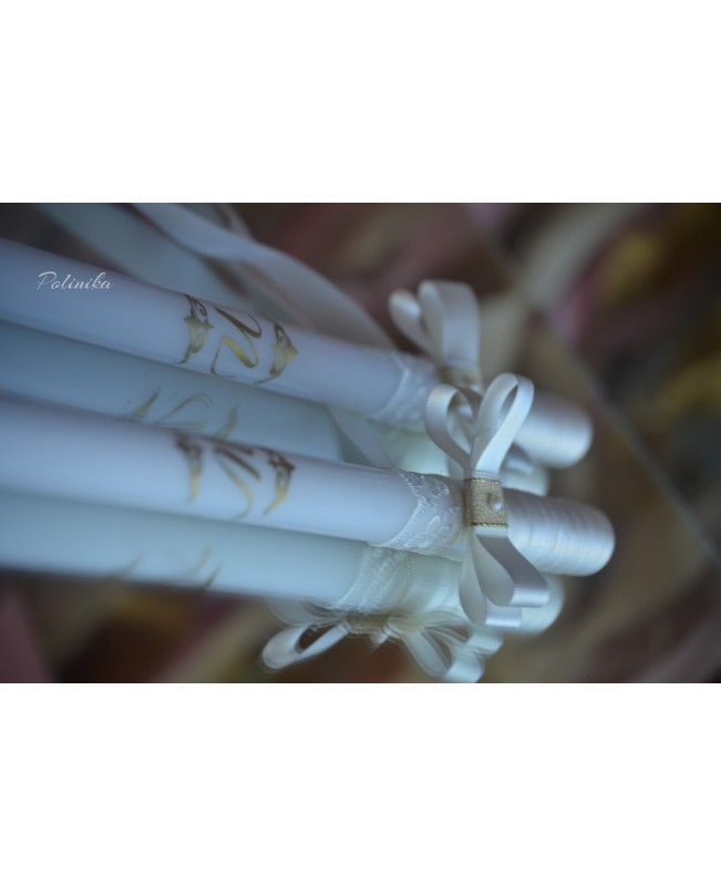 Wedding candles with decoration CN0050