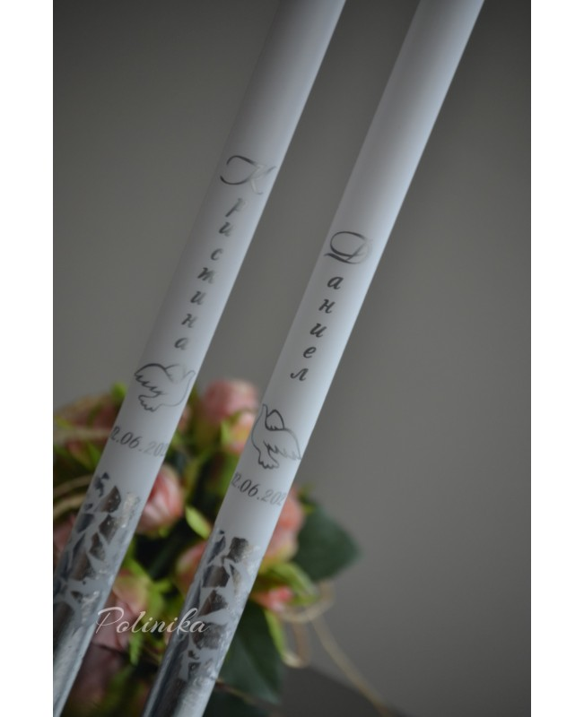 Wedding candles with decoration CN0006