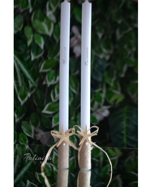 Wedding candles with decoration 0128