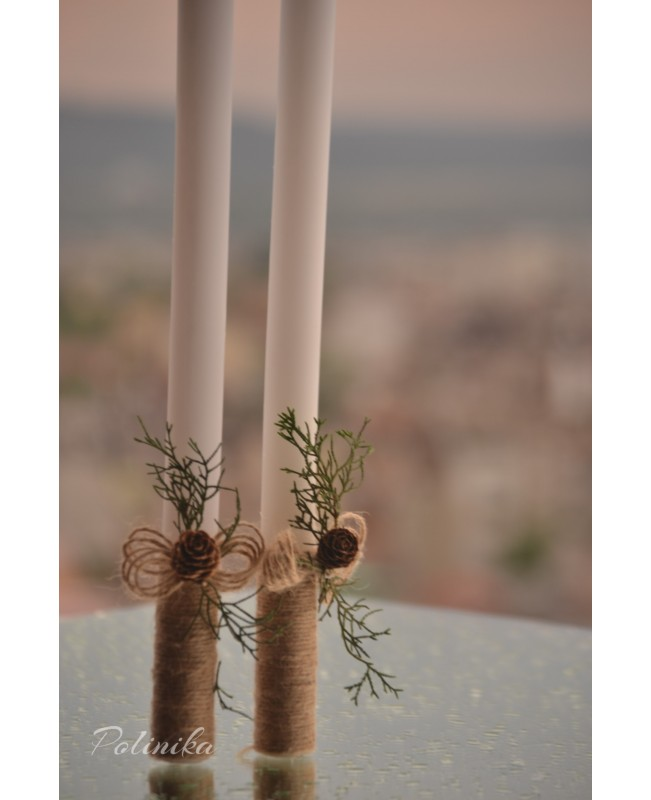 Wedding candles with decoration 0115