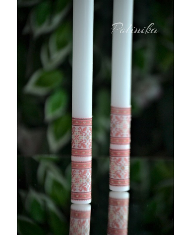 Wedding candles with decoration 0125