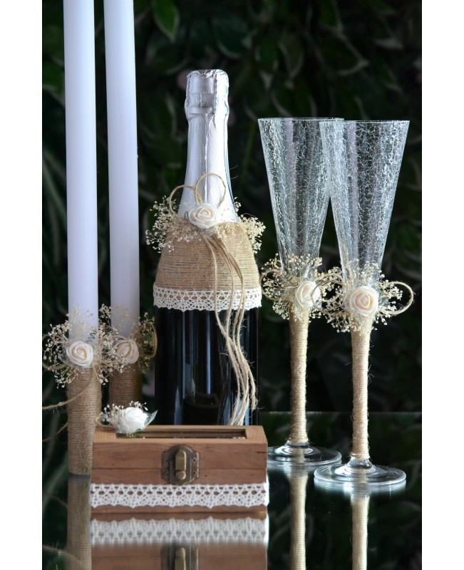 Wedding candles with decoration 0121