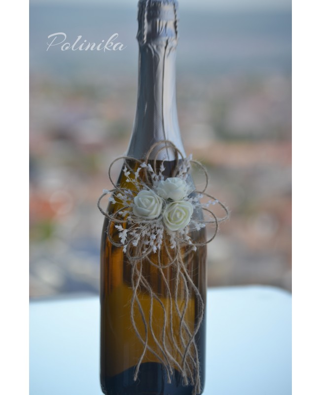 Champagne bottle decoration CH0202