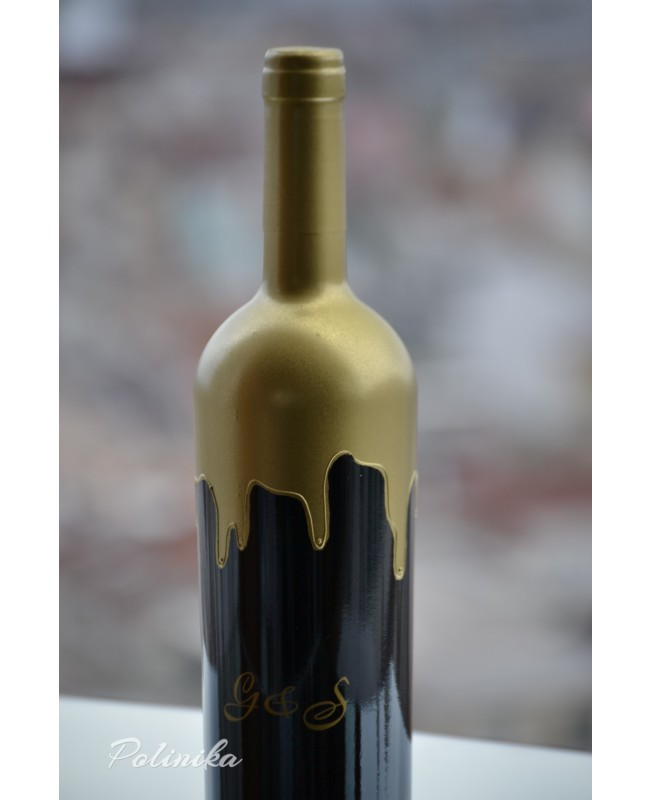 Red wine bottle CH0226