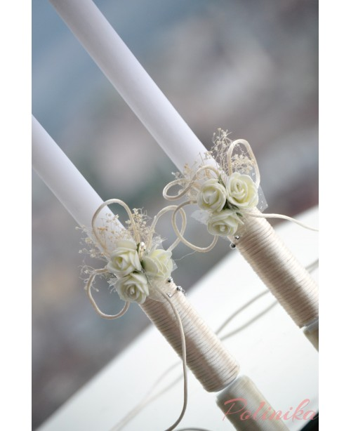 Wedding candles with decoration 0120